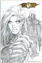 Witchblade #86 Wizard World Philly Sketch Foil Michael Turner Variant Jay COA